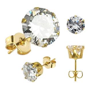 Boucles d'oreilles homme Gold Hexagon
