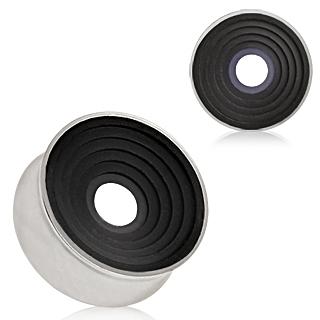 Ecarteur tunnel en acier à cercles concentriques noirs