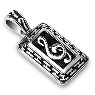 collier homme clef