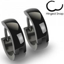 Boucles d'oreilles homme Black Design