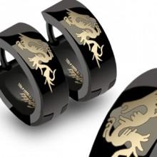 Boucles d'oreilles homme dragons